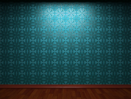 illuminated tile wall made in 3D graphics Stock Photo - 9366747