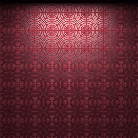 illuminated tile wall made in 3D graphics photo