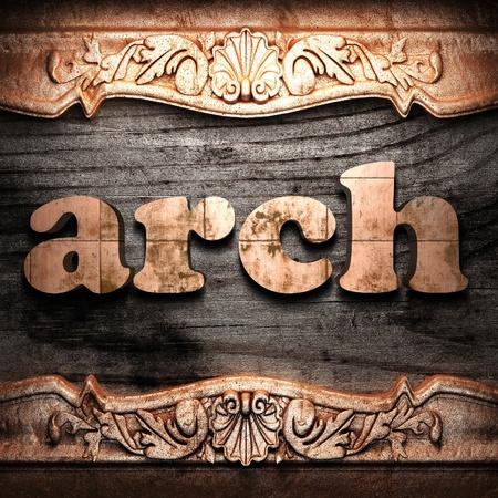 Golden word on wood Stock Photo - 10633962