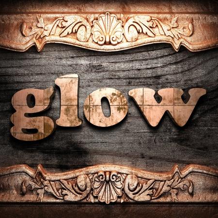 Golden word on wood Stock Photo - 10902467