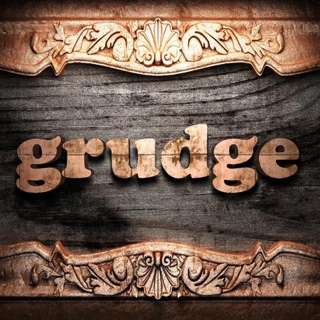 Golden word on wood Stock Photo - 10904472