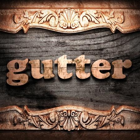 Golden word on wood Stock Photo - 10904721