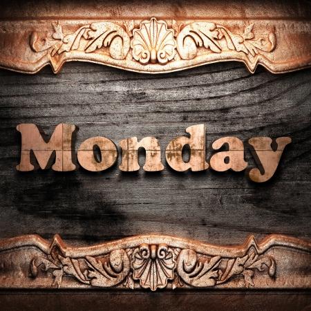 Golden word on wood Stock Photo - 10964349