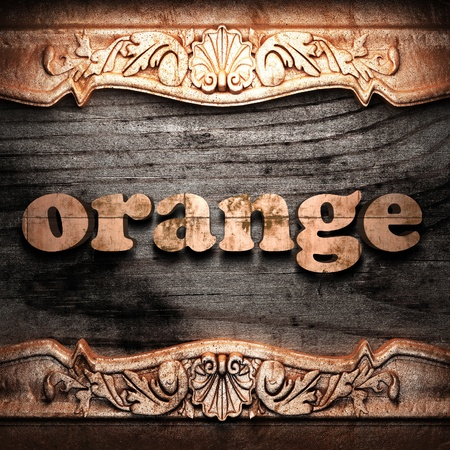 Golden word on wood Stock Photo - 10964280