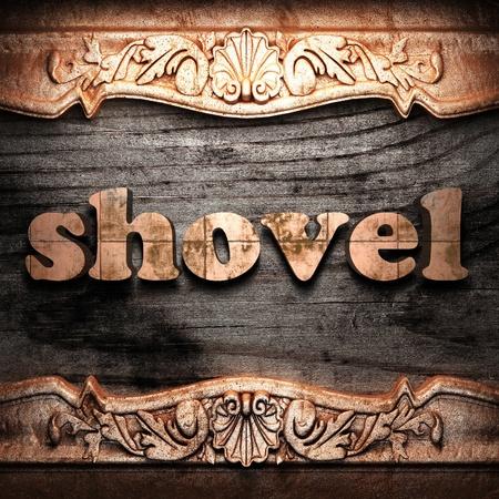 Golden word on wood Stock Photo - 10974860
