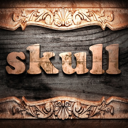 Golden word on wood Stock Photo - 10974748