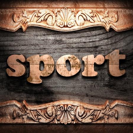 Golden word on wood Stock Photo - 10975240