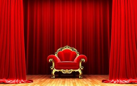 terciopelo rojo: Cortina de terciopelo rojo la apertura de la escena