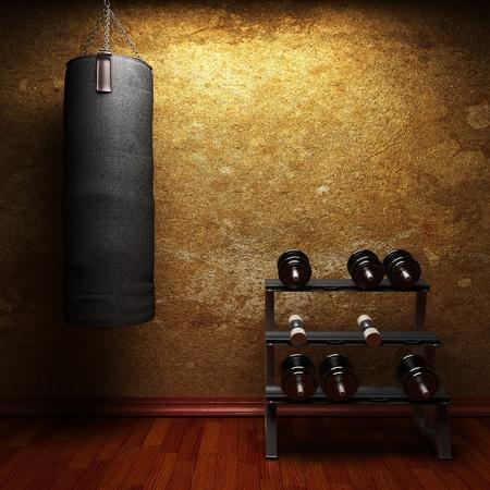 fitnessruimte gemaakt in 3d