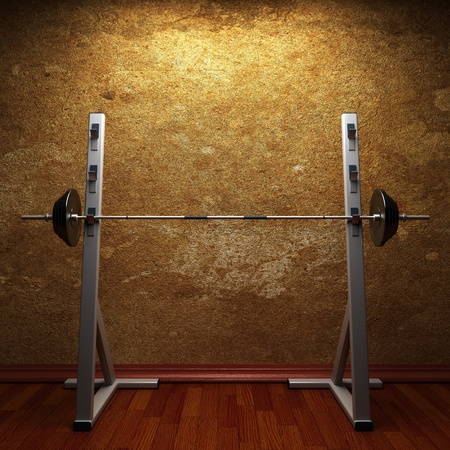 gym room made in 3d