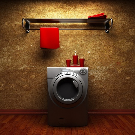 washing machine made in 3D photo