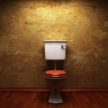 toilet made in 3D graphics photo