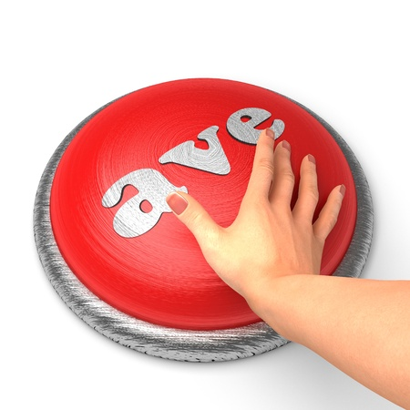 ave: Hand pushing the button