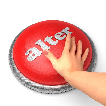 alter: Hand pushing the button