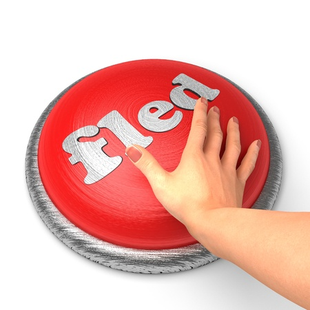 fled: Hand pushing the button