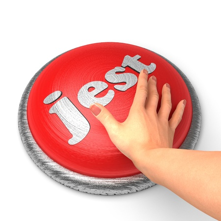 jest: Hand pushing the button