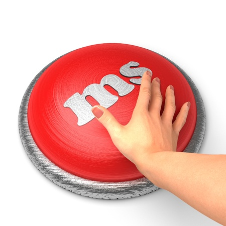 ms: Hand pushing the button