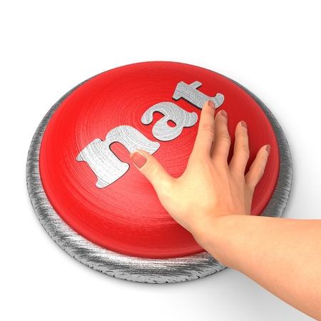 De hand te drukken op de knop Stockfoto - 11381714