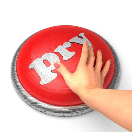pry: Hand pushing the button