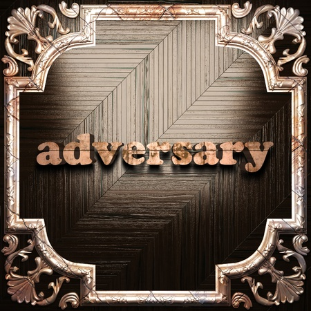 adversary: word with classic ornament made in 3D Stock Photo