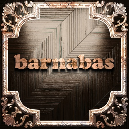 barnabas: word with classic ornament made in 3D Stock Photo