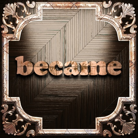 became: word with classic ornament made in 3D Stock Photo
