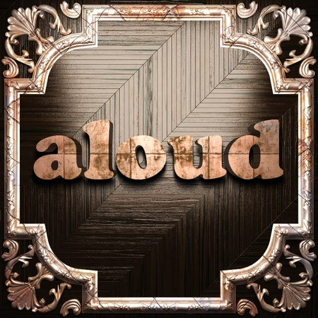 aloud: word with classic ornament made in 3D Stock Photo
