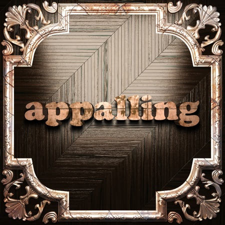 appalling: word with classic ornament made in 3D Stock Photo