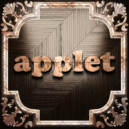 applet: word with classic ornament made in 3D Stock Photo