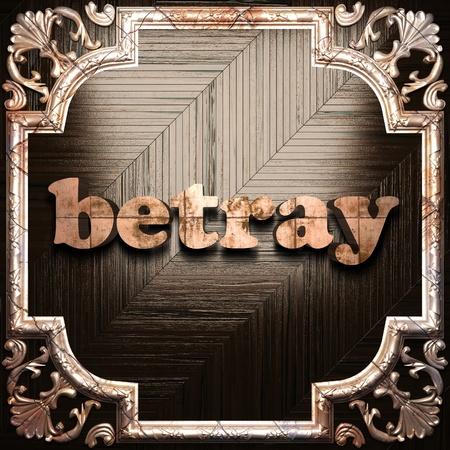 betray: palabra con la ornamentaci�n cl�sica hecha en 3D