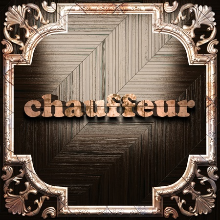 chauffeur: word with classic ornament made in 3D Stock Photo