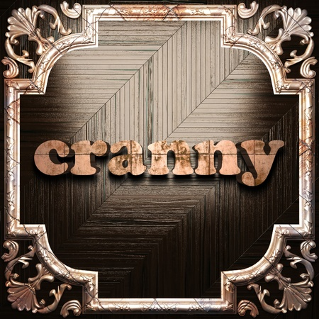 cranny: word with classic ornament made in 3D Stock Photo