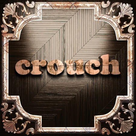 crouch: word with classic ornament made in 3D Stock Photo