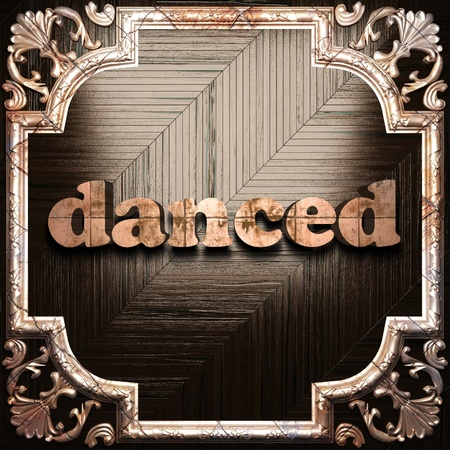 danced: word with classic ornament made in 3D Stock Photo