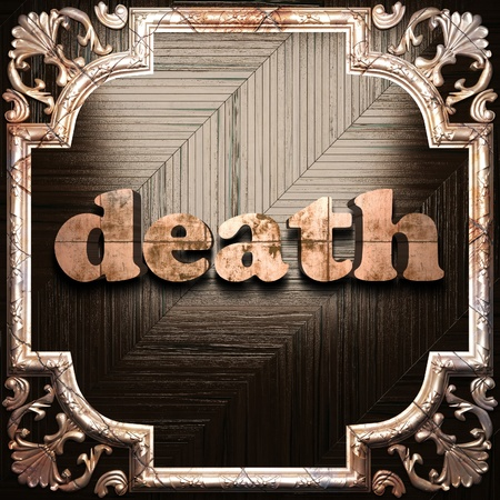 death metal: word with classic ornament made in 3D Stock Photo