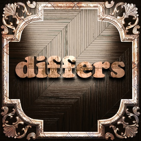 differs: word with classic ornament made in 3D Stock Photo