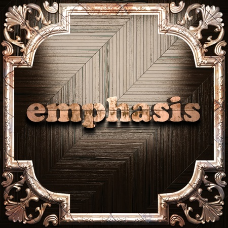 emphasis: word with classic ornament made in 3D Stock Photo