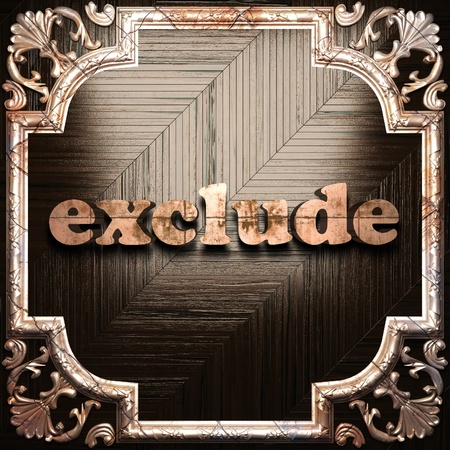 exclude: word with classic ornament made in 3D Stock Photo