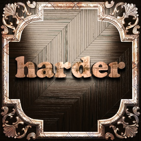 harder: word with classic ornament made in 3D Stock Photo