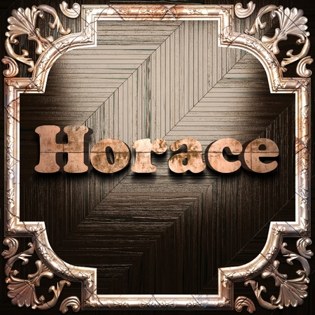 horace: word with classic ornament made in 3D Stock Photo