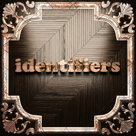 identifiers: word with classic ornament made in 3D Stock Photo