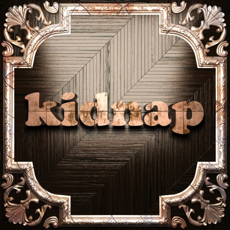 kidnap: word with classic ornament made in 3D Stock Photo