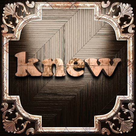 knew: word with classic ornament made in 3D Stock Photo