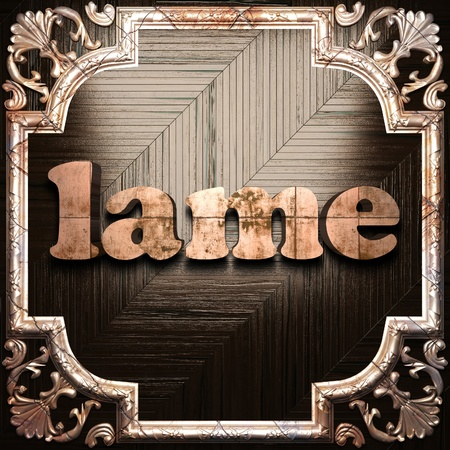 lame: word with classic ornament made in 3D Stock Photo