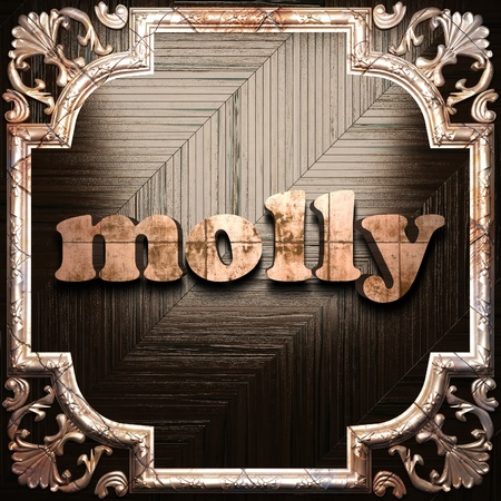 molly: word with classic ornament made in 3D Stock Photo