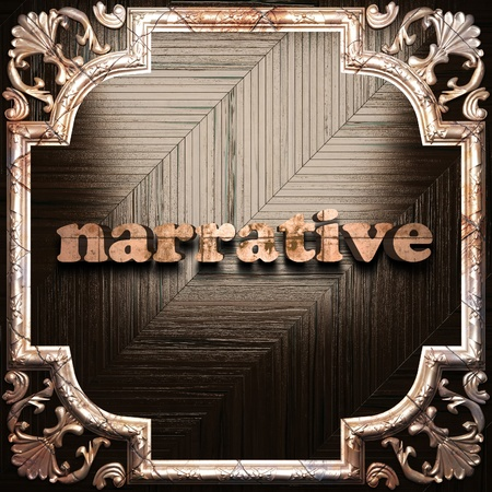 narrative: word with classic ornament made in 3D Stock Photo