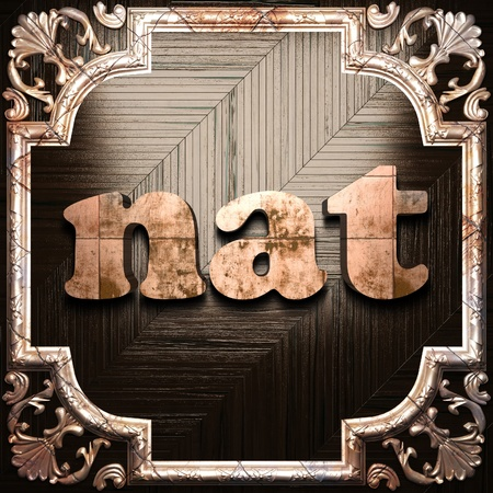 Woord met klassieke ornament gemaakt in 3D Stockfoto - 11611631