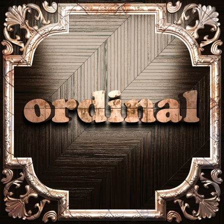 Ordinal: Wort mit klassischem Ornament in 3D gemacht