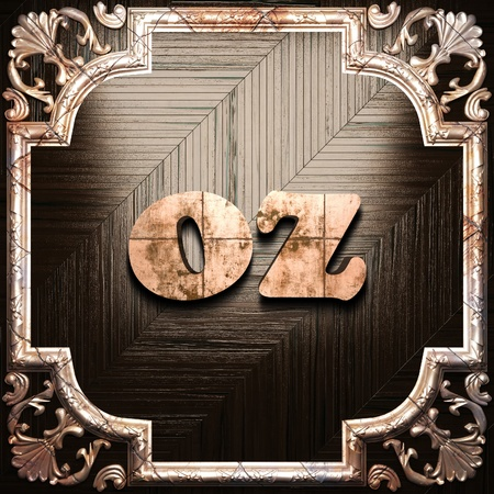 oz: word with classic ornament made in 3D Stock Photo