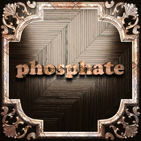 phosphate: word with classic ornament made in 3D Stock Photo
